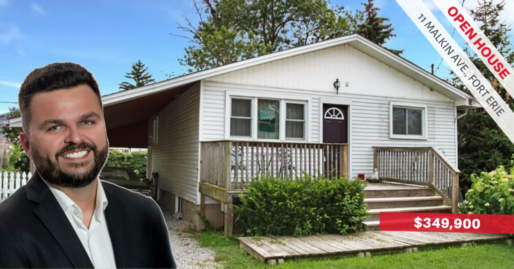 [OPEN HOUSE] 11 Malkin Ave, Fort Erie — Sat, Aug 24 @ 2 PM