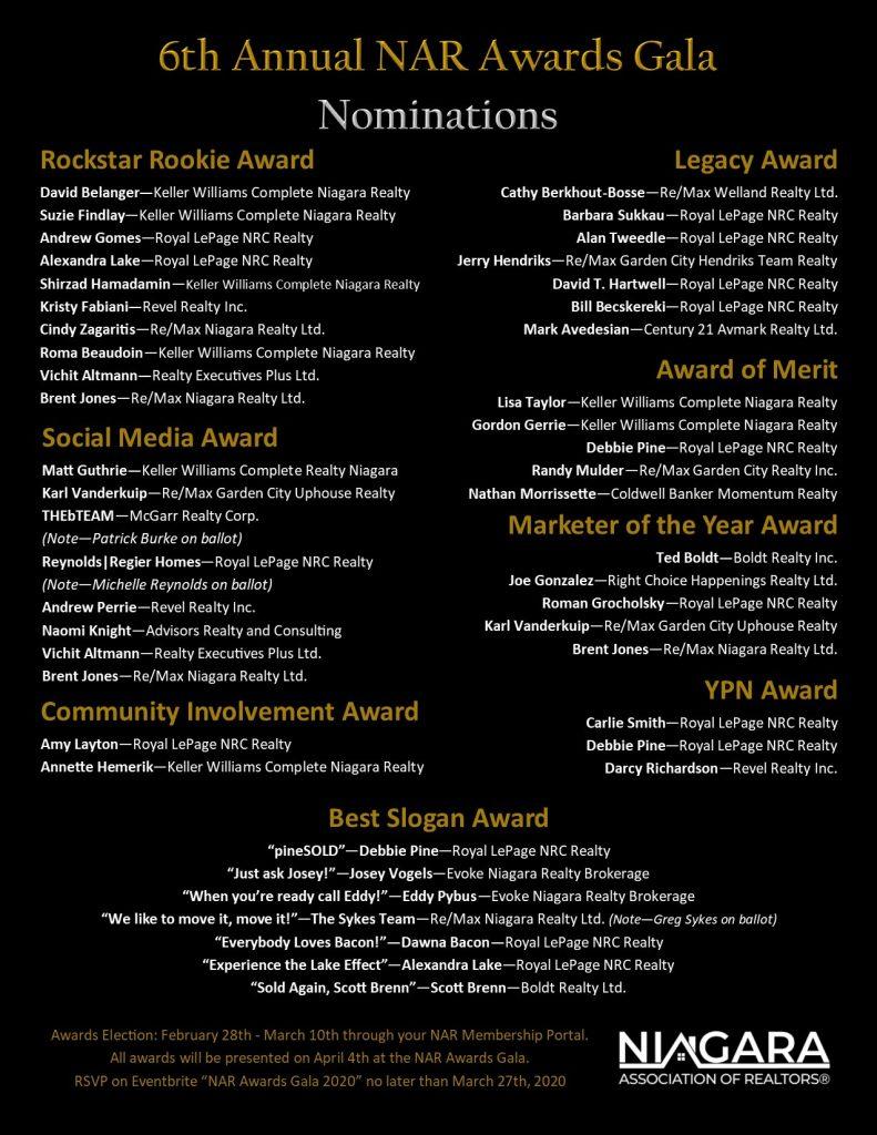 6th Annual NAR Awards