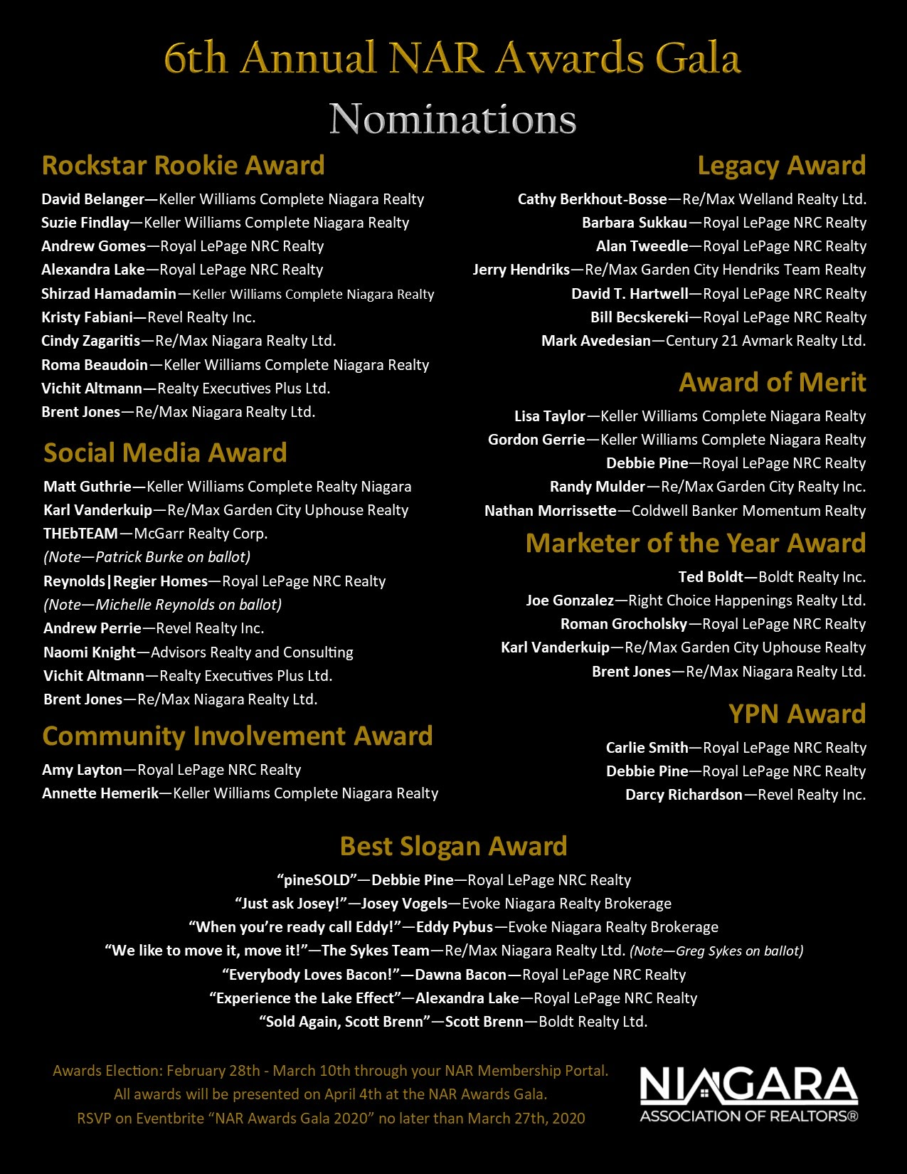 [6th Annual NAR Awards] I Was Nominated in Three Different Categories